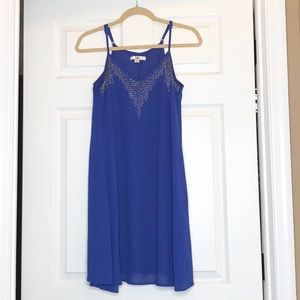 Ya Los Angeles Royal Blue Beaded Tank Dress